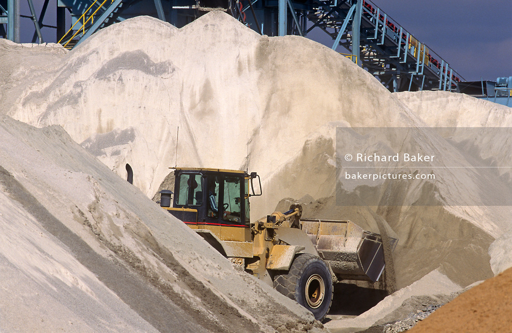 A tipper works on removing aggregates from a facility owned by the construction company, Hanson, on 17th April 1999, in Raleigh, North Carolina, USA.
