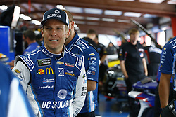 April 27, 2018 - Talladega, Alabama, United States of America - Jamie McMurray (1) hangs out in the garage during practice for the GEICO 500 at Talladega Superspeedway in Talladega, Alabama. (Credit Image: © Chris Owens Asp Inc/ASP via ZUMA Wire)