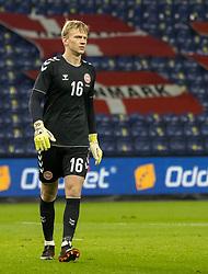 Oliver Christensen (Danmark) under venskabskampen mellem Danmark og Sverige den 11. november 2020 på Brøndby Stadion (Foto: Claus Birch).