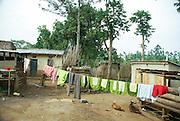 Photographed in Uganda, Kibale National Park Local worker's hovels