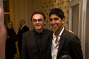 Danny Boyle; Dev Patel, The London Critics' Circle Film Awards 2009 in aid of the NSNCC. Grosvenor House Hotel . Park Lane. London. 4 February 2009