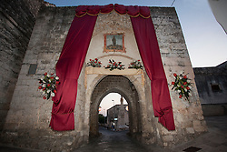 Scorrano, festa di Santa Domenica 2013. altare dedicato a Santa Domenica lungo le vie del paese