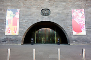 A view of the main entrance of The National Gallery of Victoria as it remains locked up during COVID-19 in Melbourne, Australia. Hotel quarantine linked to 99% of Victoria's COVID-19 cases, inquiry told. This comes amid a further 222 new cases being discovered along with 17 deaths. Melbourne continues to reel under Stage 4 restrictions with speculation that it will be extended. (Photo by Dave Hewison/Speed Media)