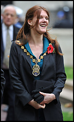 Lord Mayor of Westminster Sarah Richardson arrives for the President of the Republic of Korea Her Excellency Park Geun-hye for a Korean War Memorial Ceremony, at Victoria Embankment Gardens, London, United Kingdom, Tuesday, 5th November 2013. Picture by Andrew Parsons / i-Images