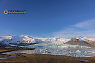 Fjallsjokull glacier near Kokusarlon in south Iceland