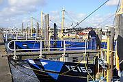 Nederland, Yerseke, 26-3-2016Vissers met hun schepen in de haven. Zij vangen oesters en mosselen ..Foto: Flip Franssen