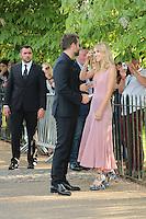 Bradley Cooper; Suki Waterhouse, The Serpentine Gallery - summer party, The Serpentine Gallery, London UK, 01 July 2014, Photo by Richard Goldschmidt