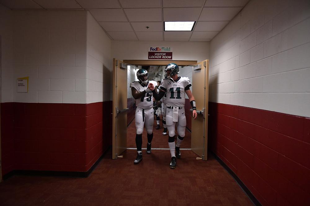 The Philadelphia Eagles defeated the Washington Redskins 30-17 on September 10, 2017 in Landover, Maryland.  (Photo by Drew Hallowell/Philadelphia Eagles)