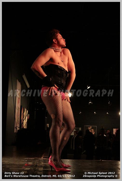 DETROIT, MI, SATURDAY, FEB. 11, 2012: Dirty Show 13, A Tension Gender at Bert's Warehouse Theatre, Detroit, MI, 02/11/2012.  (Image Credit: Michael Spleet / 2SnapsUp Photography)