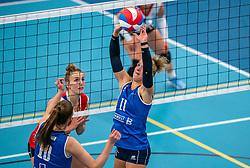Ana Rekar #11 of Sliedrecht Sport in action during the supercup semifinal between VC Sneek and Sliedrecht Sport on October, 03 2020 in Van der Knaaphal, Ede