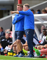 Coventry City manager Mark Robins (right) and Assistant Manager Steve Taylor