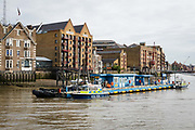 The Metropolitan Marine Police Station in Wapping seen from the River Thames on September 14, 2018 in London, England.