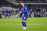 Chelsea midfielder Mason Mount (19) misses his penalty and Tottenham Hotspur win the match during the EFL Cup Fourth Round match between Tottenham Hotspur and Chelsea at Tottenham Hotspur Stadium, London, United Kingdom on 29 September 2020.