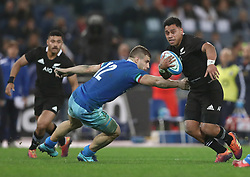 November 24, 2018 - Rome, Italy - Italy v New Zealand All Blacks - Rugby Cattolica Test Match.Italys Tommaso Castello and New Zealands Richie Mounga at Olimpico Stadium in Rome, Italy on November 24, 2018. (Credit Image: © Matteo Ciambelli/NurPhoto via ZUMA Press)
