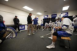 2013 February 17: Head coach John Danowski of the Duke Blue Devils Duke Blue Devils during a 3-15 win over the Mercer Bears at Koskinen Stadium in Durham, NC.
