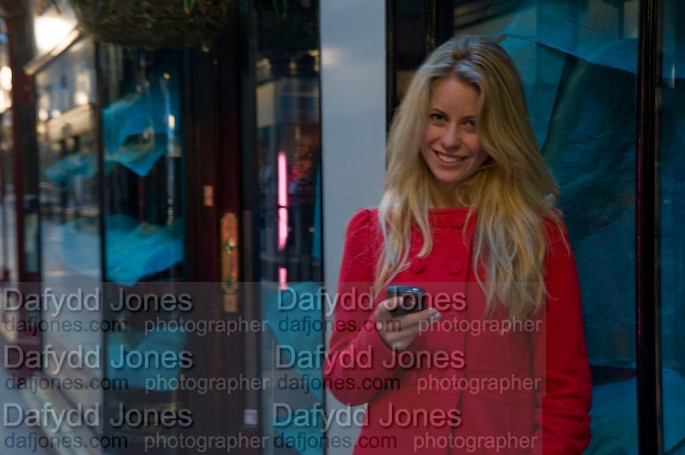 VIOLET HENDERSON, Jackdawstore. Pop Up store by PPQ. No 6 Burlington Arcade. London. 8 April 2009