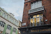 The Sun and 13 Cantons pub on a Friday night in Soho on the 23rd March 2018 in Central London, United Kingdom.