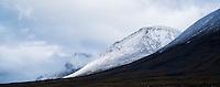 Stormy mountain landscape along Kungsleden trail, near Sälka hut, Lappland, Sweden