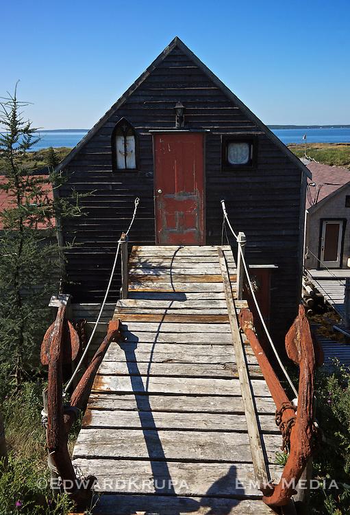 A fisherman's shack in the village of Blue Rocks, Nova Scotia.
