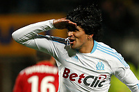 FOOTBALL - FRENCH CHAMPIONSHIP 2010/2011 - L1 - OLYMPIQUE MARSEILLE v MONTPELLIER HSC - 27/11/2010 - PHOTO PHILIPPE LAURENSON / DPPI - JOY LUCHO GONZALEZ (OM) AFTER HIS GOAL