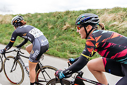 Lisa Brennauer in the lead group as the race enters it's final phase. The flat dash back to Wevelgem - Women's Gent Wevelgem 2016, a 115km UCI Women's WorldTour road race from Ieper to Wevelgem, on March 27th, 2016 in Flanders, Belgium.