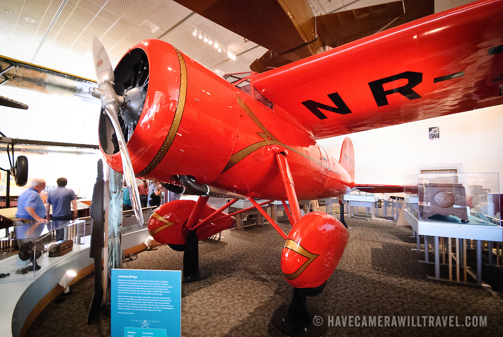 Planes on display at the National Air and Space Museum in Washington DC