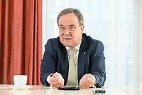 27 NOV 2020, BERLIN/GERMANY:<br /> Armin Laschet, CDU, Ministerpraesident Nordrhein-Westfalen, waehrend einem Interview, Landesvertretung Nordrhein-Westfalen<br /> IMAGE: 20201127-01-016