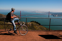 Marin Headlands; sightseeing; as seen from Hawk Hill, Golden Gate Bridge, San Francisco, California, USA.  Photo copyright Lee Foster.  Photo # california107859