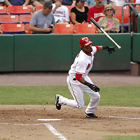 21 July 2007:  Washington Nationals center fielder Nook Logan (7) in action against the Colorado Rockies.  The Nationals defeated the Rockies 3-0 at RFK Stadium in Washington, D.C.  ****For Editorial Use Only****
