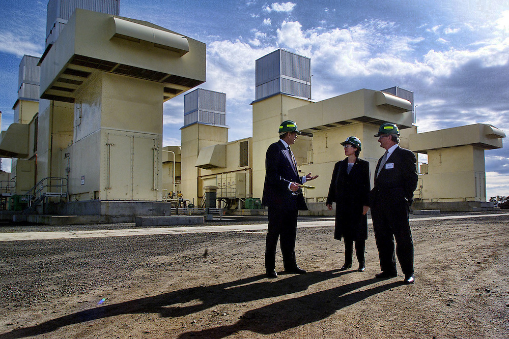 csz020801.001.001.jpg. Digicam000. Edison Mission Energy Exec Vice President Bob Edgell (left), Energy Minister Candy Broad, and Contact Energy Chairman Phil Pryke at a new peaking power plant near Loy Yang B  Pic By Craig Sillitoe melbourne photographers, commercial photographers, industrial photographers, corporate photographer, architectural photographers, This photograph can be used for non commercial uses with attribution. Credit: Craig Sillitoe Photography / http://www.csillitoe.com<br /> <br /> It is protected under the Creative Commons Attribution-NonCommercial-ShareAlike 4.0 International License. To view a copy of this license, visit http://creativecommons.org/licenses/by-nc-sa/4.0/.