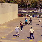 The game of handball is popular in Brighton Beach and Coney Island, Brooklyn. It is played with a small, black, hard rubber ball.