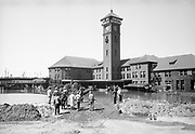 0006-04A. Union station area during Columbia & Willamette River flood June 1948