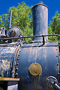 Steam engine at the Borax Museum, Furnace Creek Ranch, Death Valley National Park. California