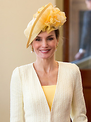 Queen Letizia of Spain arrives at Buckingham Palace, London during the King Felipe's VI State Visit to the UK.. Picture dated: Wednesday July 12, 2017. Photo credit should read: Isabel Infantes / EMPICS Entertainment.