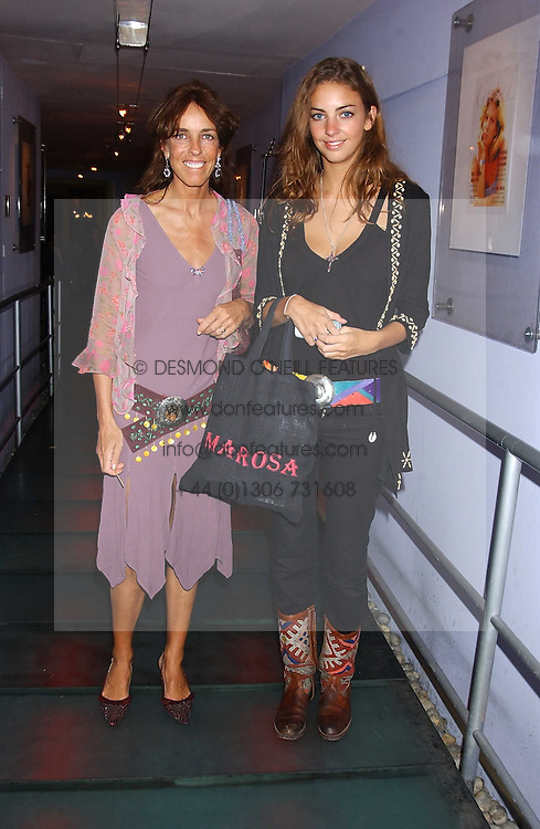 Left to right, MRS TIM HANBURY and her daughter ROSE HANBURY at a polo players party hosted by AJM International Publishing and Cartier celebrating the 21st anniversary of the Cartier International Polo held at The Collection, London SW3 on 19th July 2005.<br /><br />NON EXCLUSIVE - WORLD RIGHTS