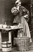 Bertholt Brecht (1898-1956) German playwright and poet. Production of his play 'Mother Courage' by the Berliner Ensemble.  Helene Weigel as Mother Courage.