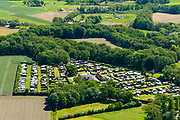 Nederland, Gelderland, Achterhoek, 29-05-2019; Achterhoek,  omgeving Winterswijk - Brinkheurne. Kamperen bij de boer.<br /> Camping at the farm.<br /> luchtfoto (toeslag op standard tarieven);<br /> aerial photo (additional fee required);<br /> copyright foto/photo Siebe Swart