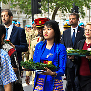 Myanmar Embassy, Ms Su Myat Thu is a Second Secretary attend the International Day of United Nations Peacekeepers - Remembrance Ceremony, on 23 May 2019, London, UK.