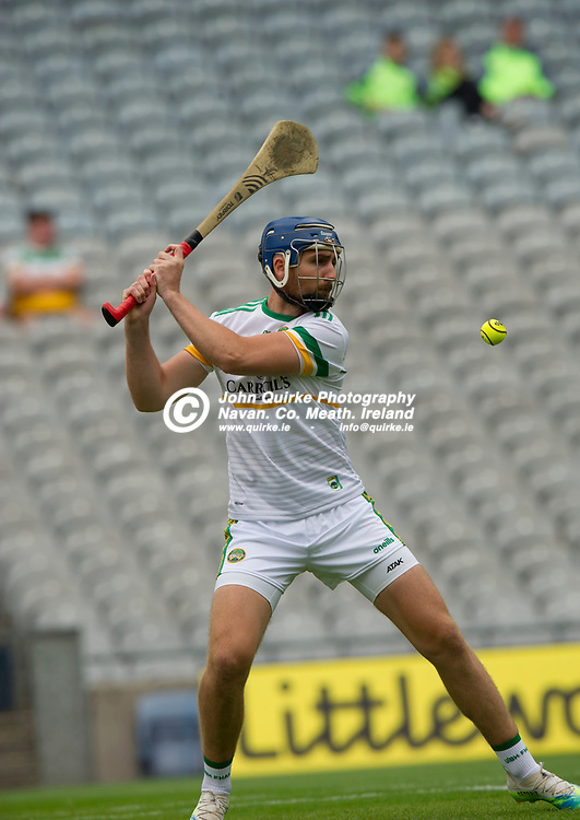 01–08-21.<br /> Derry v Offaly - Christy Ring Cup Final at Croke Park.<br /> Conor Clancy, Offaly in action against Derry in the Christy Ring Cup Final.<br /> Photo: the John Quirke / www.quirke.ie<br /> ©John Quirke Photography, 16 Proudstown Road, Navan. Co. Meath. (info@quirke.ie / 046-9028461 / 087-2579454).
