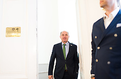 10.05.2016, Bundeskanzleramt, Wien, AUT, Bundesregierung, Erste Sitzung des Ministerrats nach Rücktritt des Bundeskanzlers, im Bild Bundesminister für Inneres Wolfgang Sobotka (ÖVP) // Austrian Minister of the Interior Wolfgang Sobotka before cabinet meeting the day after chancellor Faymann's demission at federal chancellors office in Vienna, Austria on 2016/05/10, EXPA Pictures © 2016, PhotoCredit: EXPA/ Michael Gruber
