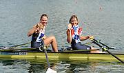 Eton Dorney, Windsor, Great Britain,..2012 London Olympic Regatta, Dorney Lake. Eton Rowing Centre, Berkshire.  Dorney Lake.  ..Final Women's Double Scull, GBR W2X, Bow Anna WATKINS and Katherine GRAINGER..12:55:33  Friday  03/08/2012 [Mandatory Credit: Peter Spurrier/Intersport Images]