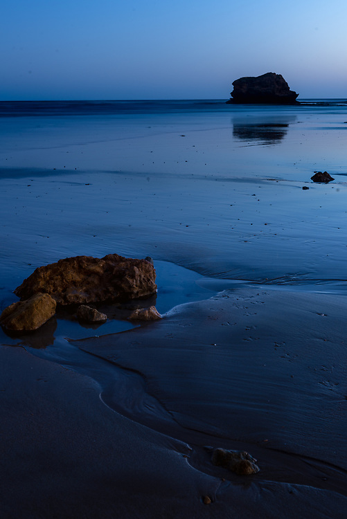 Long exposure of rock formations on Torquay beach