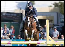 August 5, 2017 - United Kingdom - Image licensed to i-Images Picture Agency. 05/08/2017. Gatcombe Park, United Kingdom.  Zara Tindall competing in the show jumping event  on the second day of the Festival of British Eventing at Gatcombe Park, United Kingdom.  Picture by Stephen Lock / i-Images (Credit Image: © Stephen Lock/i-Images via ZUMA Press)