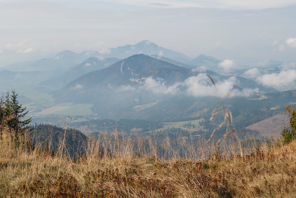 The Low Tatras from the High Tatras. In looking at wildlife cooridors that could be used by large carnivores the European Wilderness Society is considering riparian routes between the two ranges.