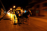 Night street in Cardenas, Matanzas, Cuba.