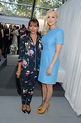 Left to right, RASHIDA JONES and FEARNE COTTON at the Glamour Women of the Year Awards in association with Pandora held in Berkeley Square Gardens, London on 4th June 2013.