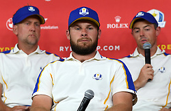 Team Europe's Tyrrell Hatton during a press conference after defeat to Team USA at the end of day three of the 43rd Ryder Cup at Whistling Straits, Wisconsin. Picture date: Sunday September 26, 2021.