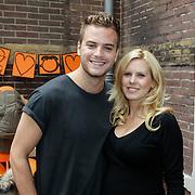 NLD/Amsterdam/20120916- Babyshower Jim Bakkum en partner Bettina Holwerda,