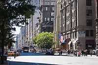 street scene on 6th avenue in New york City in October 2008