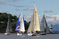 The Silvers Marine Scottish Series 2014, organised by the  Clyde Cruising Club,  celebrates it's 40th anniversary.<br /> Day 1<br /> CYCA Restricted sail GBR9742R, Hoodlum, Robin Ferguson, Troon CC, X332<br /> Racing on Loch Fyne from 23rd-26th May 2014<br /> <br /> Credit : Marc Turner / PFM